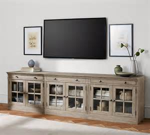 large tv stands livingston large tv stand pottery barn
