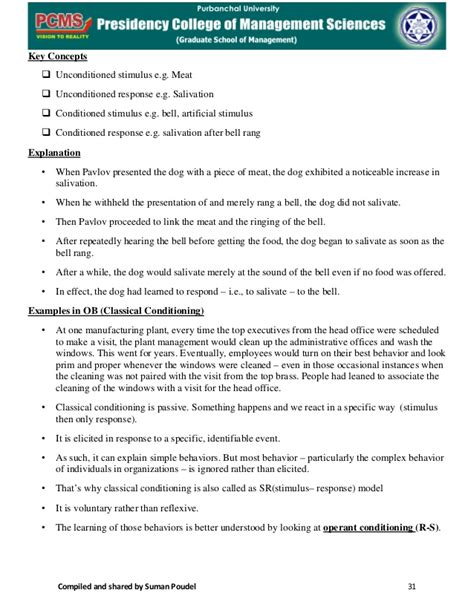 Organisational Behaviour Notes For Mba Ppt by Mba 1s Sem Organisational Behaviour Notes