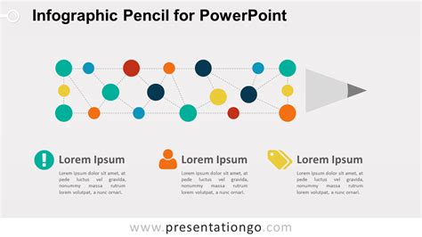 pencil project network diagram infographic pencil diagram for powerpoint presentationgo