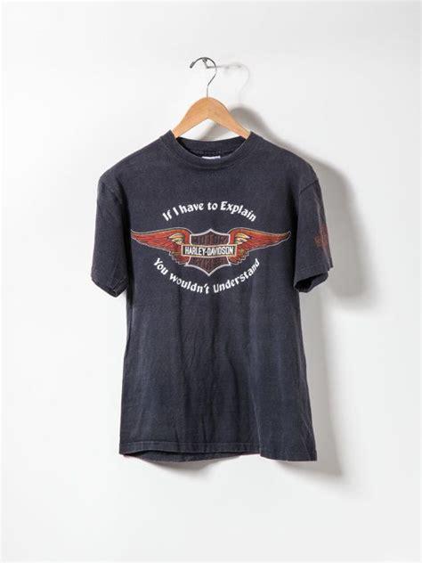 Tshirt Harley Davidson B C vintage harley davidson t shirt black size l vintage