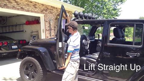 How To Remove Jeep Doors jeep wrangler tutorial how to remove the doors