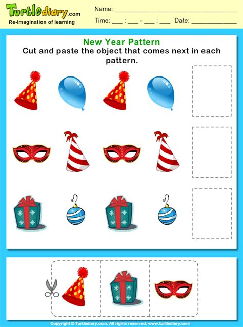 pattern worksheet what comes next cut and paste the pattern that comes next worksheet