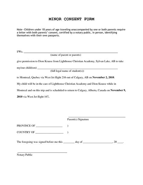 Authorization Letter Unaccompanied Minors authorization letter for unaccompanied minor 28 images