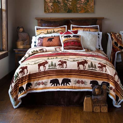 wildlife bedding clearance luxury moose bedding collection cabin place