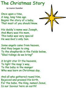 poem the christmas story by leanne guenther