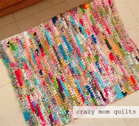 how to crochet a rag rug susan s quilt creations stuff quilted boxes crochet rugs sew together bag