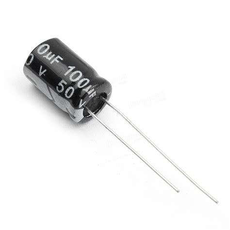 Sale Kapasitor 4 Uf 50pcs 100uf 50v 105 176 c radial electrolytic capacitor 8x12mm sale banggood sold out