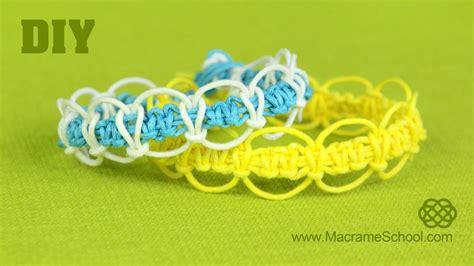 pdf tutorial alternating square knot macrame bracelet diy easy square knot loops circles bracelet youtube
