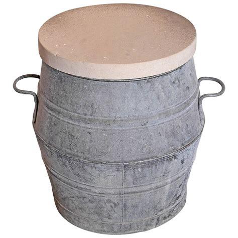 tub side table galvanized vintage dolly tub barrel side table at 1stdibs