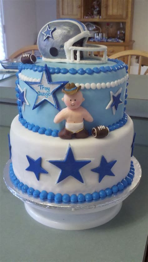 Dallas Cowboys Baby Shower Cake by Dallas Cowboys Baby Shower Cakecentral