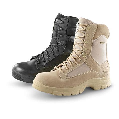 waterproof combat boots hq issue waterproof side zip tactical boots black