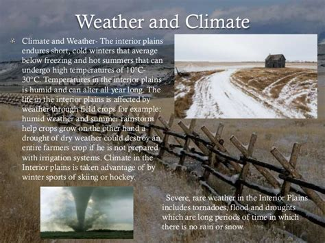 Interior Plains Weather by 6 Physical Regions Of Canada
