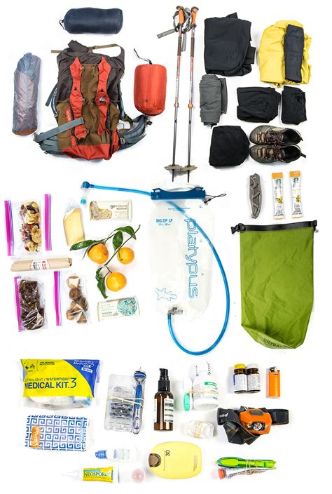 go event guide new years item pack ultralight backpacking list for one