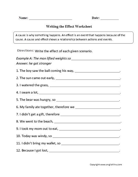 Cause And Effect Worksheets For Middle School by Worksheet Cause And Effect Worksheets For Middle School