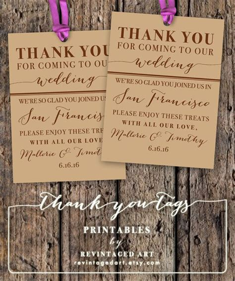Destination Wedding Thank You Card Template by Thank You Tags Wedding Thank You And Welcome Bags On