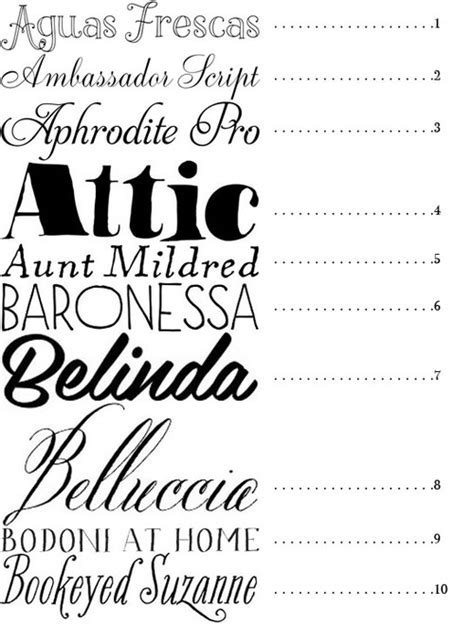 MERRY BRIDES ? 50 Fonts   Best Fonts for Wedding Invitations