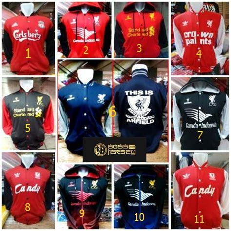 Jaket Bola Hoodie Liverpool jual jaket hoodie varsity custome liverpool fc jersey