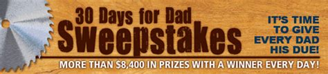 Woodworking Sweepstakes - 30 days for dad 2015 sweepstakes winners popular woodworking magazine