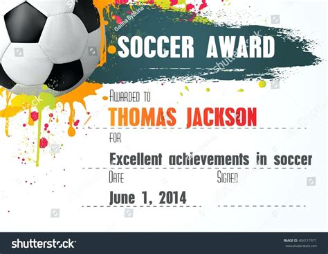 templates for soccer awards great soccer certificates templates contemporary exle