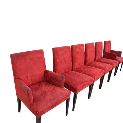 Crate And Barrel Chairs Dining 70 Crate Barrel Crate Barrel Microsuede Cranberry Chairs Chairs
