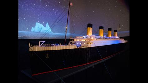Home Theater Is A Titanic Replica by 13newsnow Lego Replica Of Titanic Built By