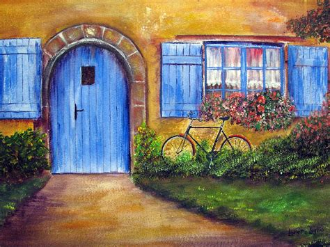 House Plans With Dimensions french cottage painting by loretta luglio