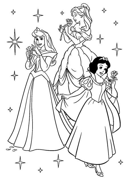 free printable disney princess coloring pages for - Princess Coloring Page