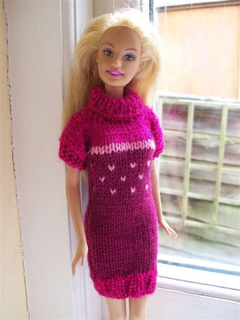 Biebie Knit clothes pink turtle neck dress knitting and knits