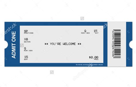 blank printable event tickets blank ticket template printable raffle tickets template