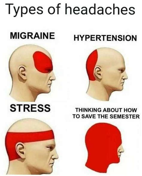 Different Kinds Of Memes - dopl3r com memes types of headaches migraine hypertension stress save the semester