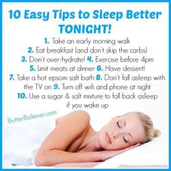 how to better 10 easy tips for getting better sleep tonight that you