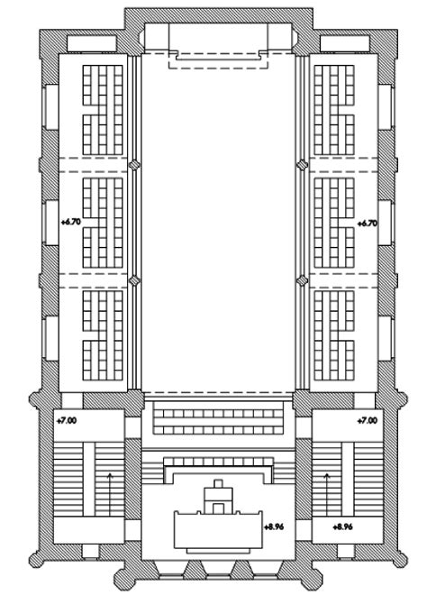 synagogue floor plan file first floor of the zagreb synagogue computer