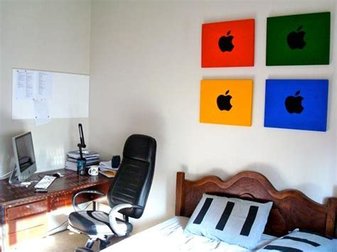 tech bedroom reader spotlight ricardo s apple themed wall art