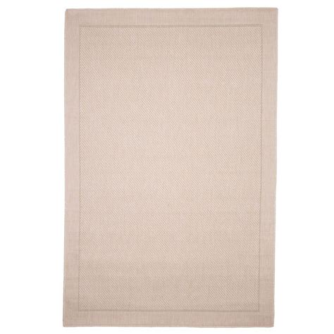 5 X 7 Indoor Outdoor Rug Lavish Home Solid Beige 5 Ft X 7 Ft 7 In Indoor Outdoor Area Rug 62 2068 The Home Depot