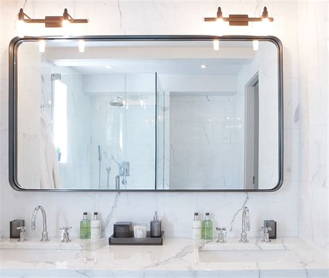 Custom Made Bathroom Mirrors Custom Made Bathroom Mirror Modern Bathroom Mirrors New York By Aguirre Design