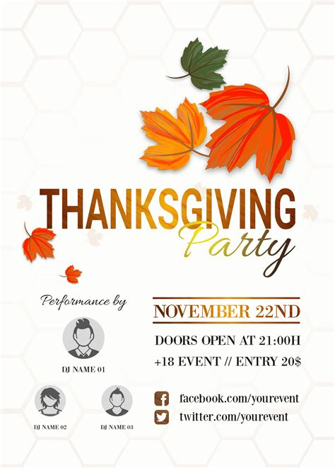 thanksgiving flyers free templates 23 free thanksgiving flyers psd word templates demplates