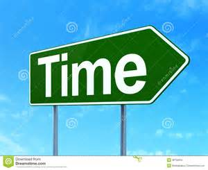 timeline concept time on road sign background stock