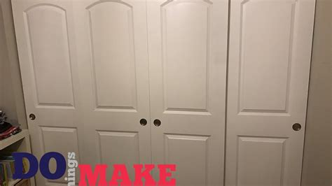 diy sliding closet doors easy    youtube