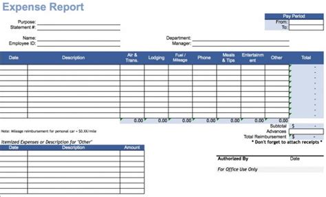 expense report template expense report template auto computes