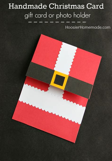 Handmade Gift Cards - handmade christmas card homemade holiday inspiration hoosier homemade
