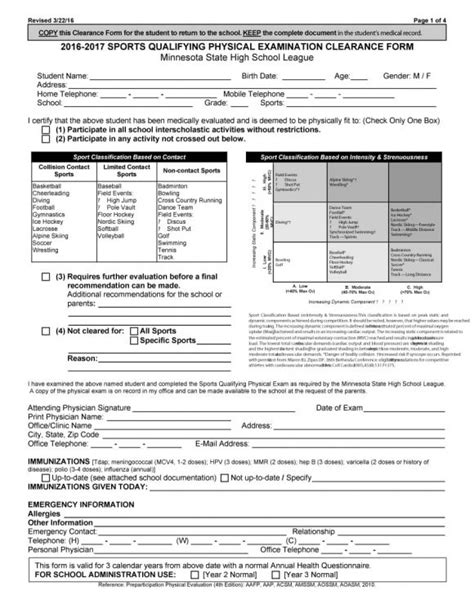 physical exam form physical examination form certainty
