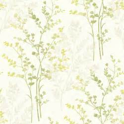 beige green fern motif arthouse wallpaper in green beige and cream