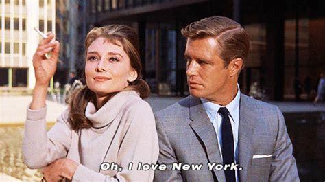 film quotes new york gif film movie classic nyc audrey hepburn amazing new york