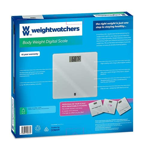 Weight Watchers Bathroom Scale Battery by Body Weight Digital Scale