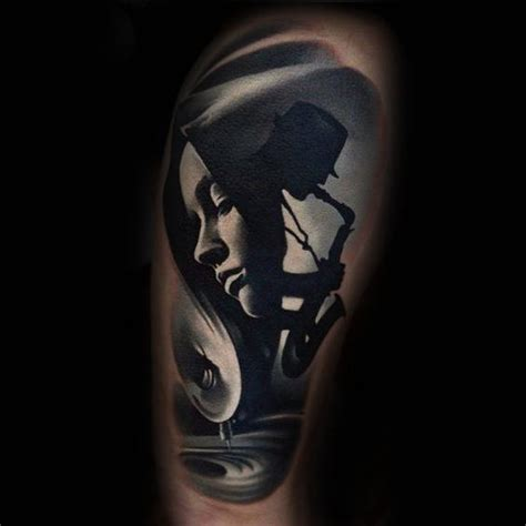 night time tattoo 50 saxophone designs for jazz inspired ink ideas