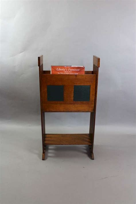 arts and crafts table ls arts and crafts oak and leather magazine rack arts and