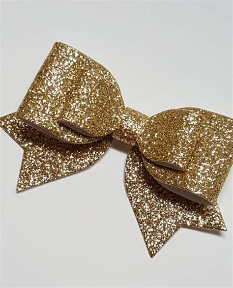 big gold hair bow gold glitter hair bow gold baby