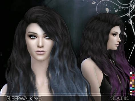 sims 4 hair the sims resource my sims 4 blog stealthic sleepwalking hair for females