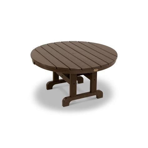 Composite Patio Table by Trex Outdoor Furniture Cape Cod Tree House 36 In