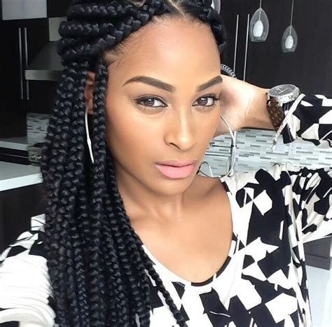 styling with big braids got me wanting some large box braids hairstyles